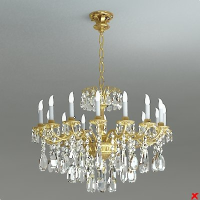 chandelier light 3d 3ds