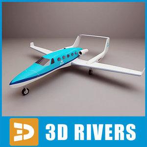 adam aircraft a700 3d max