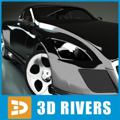 maybach exelero luxury car 3d 3ds