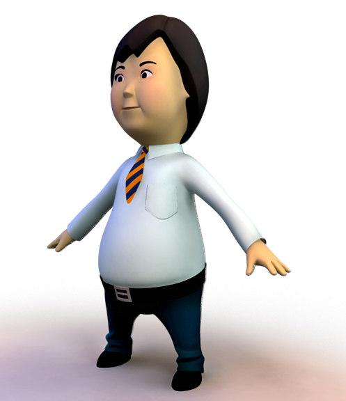 business clerk 3d obj