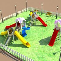 playing park 3d max