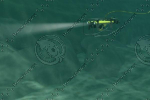 3d underwater rov