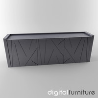 3d sideboard digital model