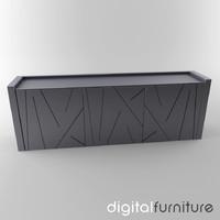 3d sideboard digital model