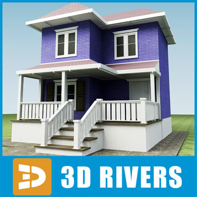 3d small town house building model for House models to build