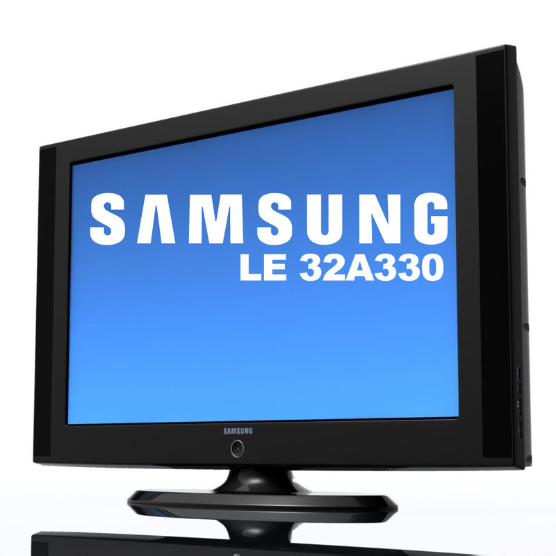 tv samsung le 32 3d model