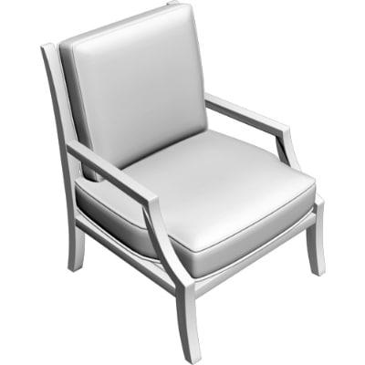 armchair obj