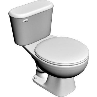 toilet 3d obj