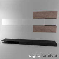 wall digital 3d model