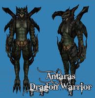 3d antaras warrior armor