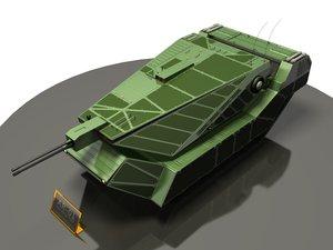 baku assault tank 3d 3ds