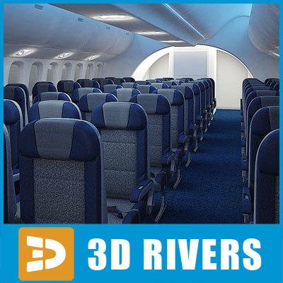 3ds max dreamliner economy class interior