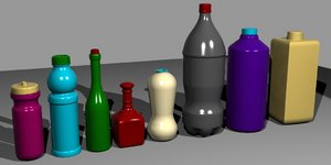 bottles whisky beer 3ds
