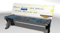3d bus bench model