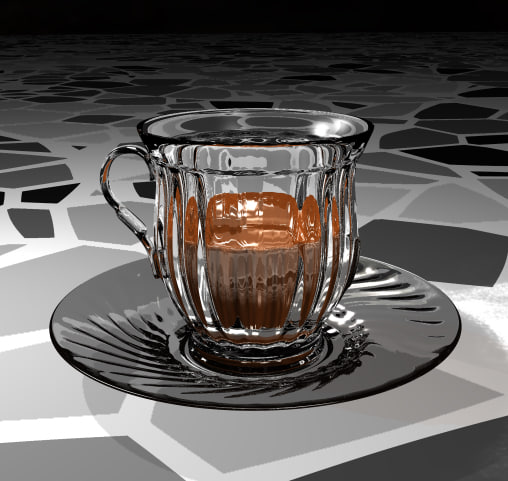glass coffe 3d model