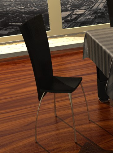 3d model of exquisite chair