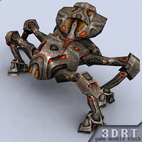 mech crawler 3d model