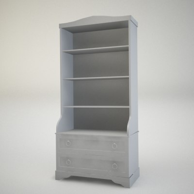 3d model of console cupboard locker