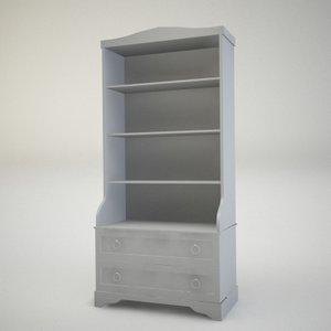 3d model of console cupboard locker