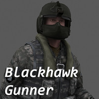 army blackhawk gunner 3d model