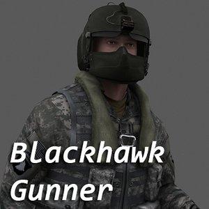 army blackhawk gunner 3d model