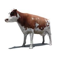 cow 3d 3ds