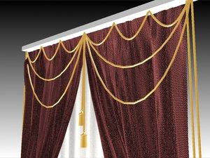 3ds max curt curtain