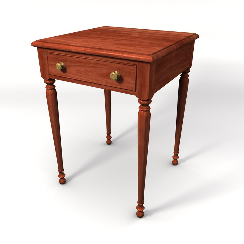 traditional sheraton style table 3d model