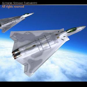 fb-22 f-22 fighter 3d model