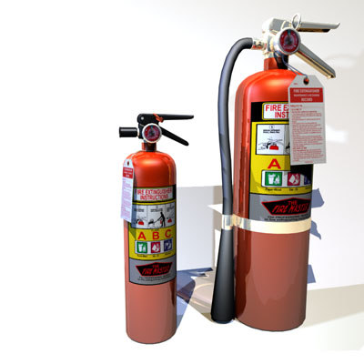 3d extinguisher 02 flame