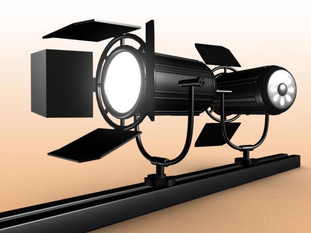 3d model stage lighting track