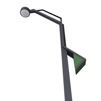 3d model streetlight tokyo