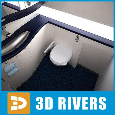 3d dreamliner lavatory interior