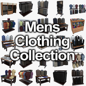 mens dress clothing displays 3d model