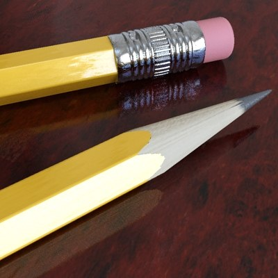 3d pencil scale - model