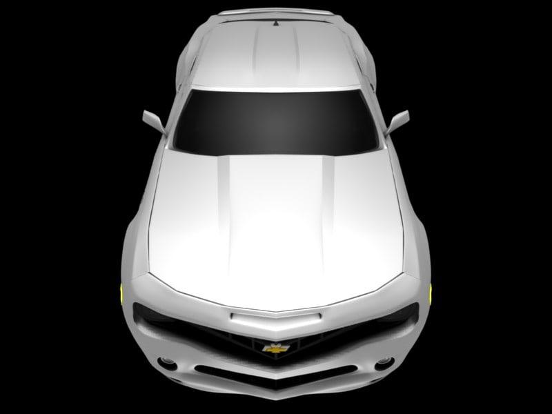 3d 2010 chevy chevrolet camaro model
