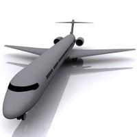 aeroplane md-90 3d model