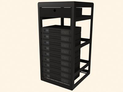 qsc power rack 9 3d model