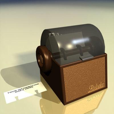 3d rolodex card file 01 model