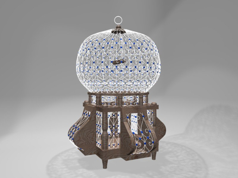 blend traditional sidi bird cage
