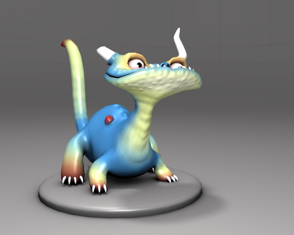 free dragon blender rigged 3d model