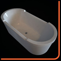 bathtub 700012 duravit - 3d model