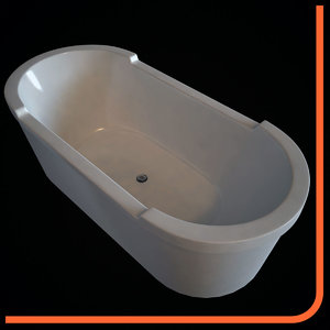 bathtub 700012 duravit - 3d model