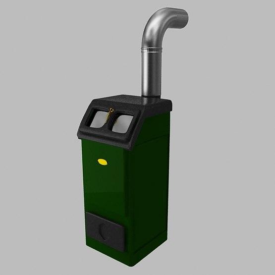 3d max wood heater