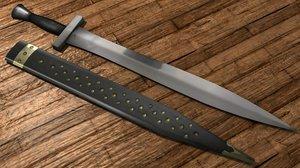 3d sword sheath model