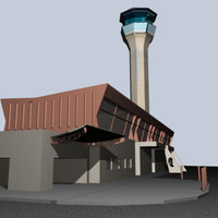 3ds max domestic airport terminal
