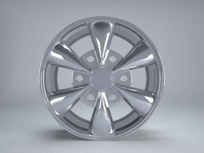 aftermarket wheel rim 3d obj
