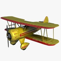 Waco YMF5 Biplane Yellow