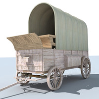 Horse Carriage 3D Model