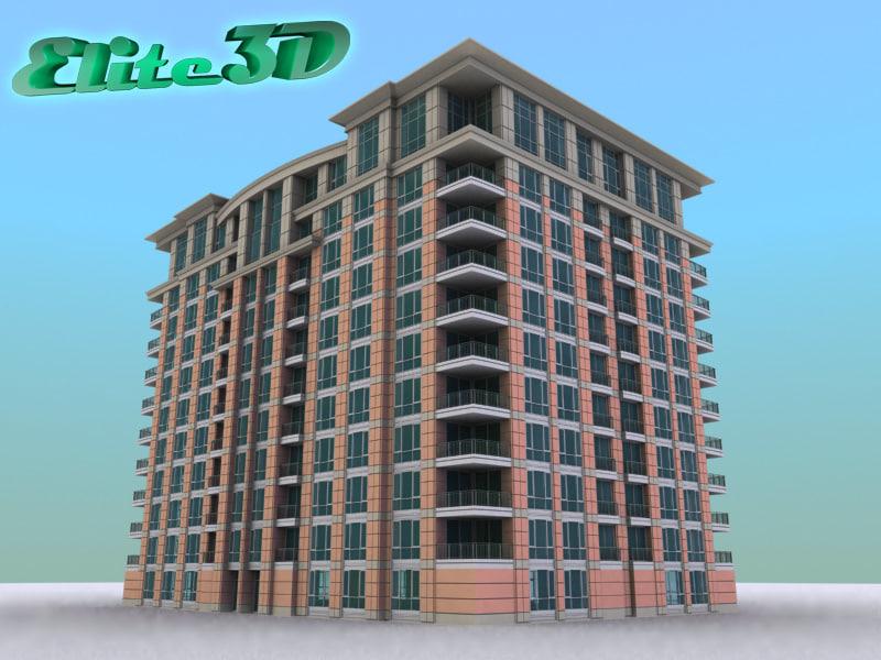 apartment hotel condominium 3d 3ds